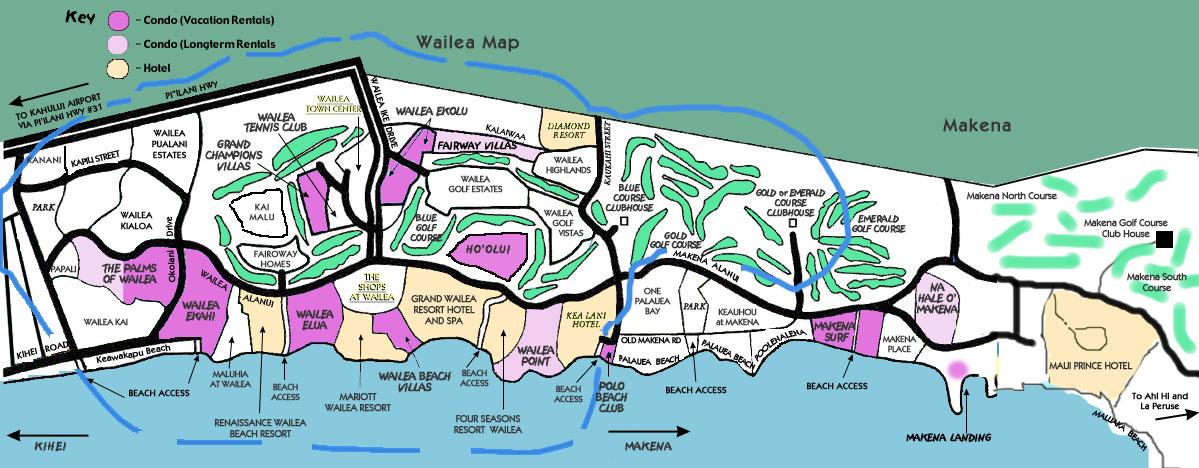 Wailea Hawaii Map.Maui Wailea Ekahi Maps Resort Info Activities Wailea Ekahi